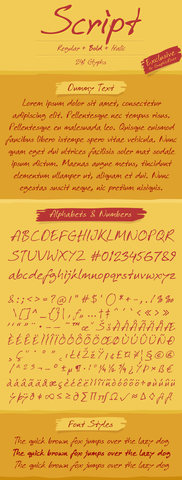 Script Font - Fonts