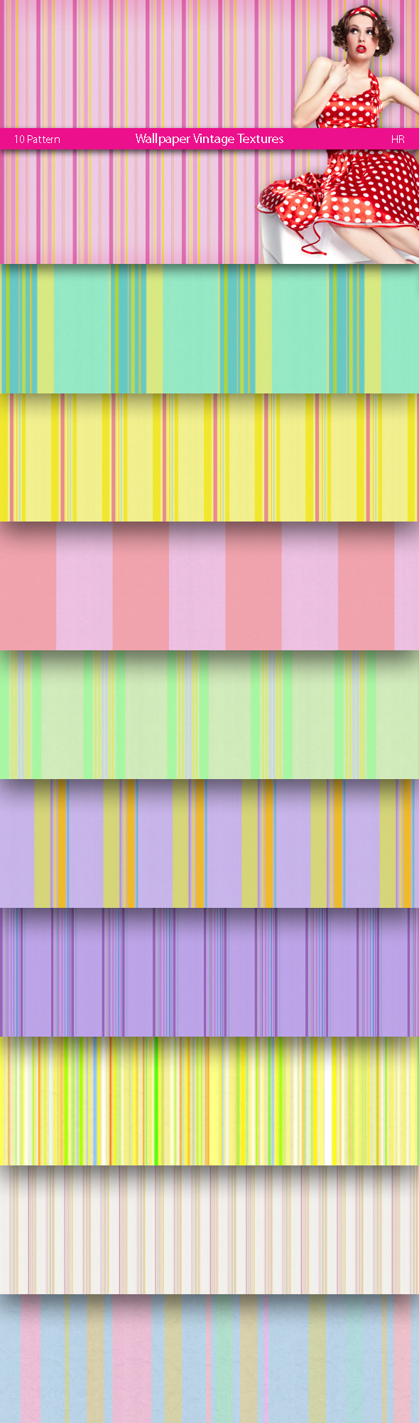 Wallpaper Vintage Patterns - Artistic Textures / Fills / Patterns