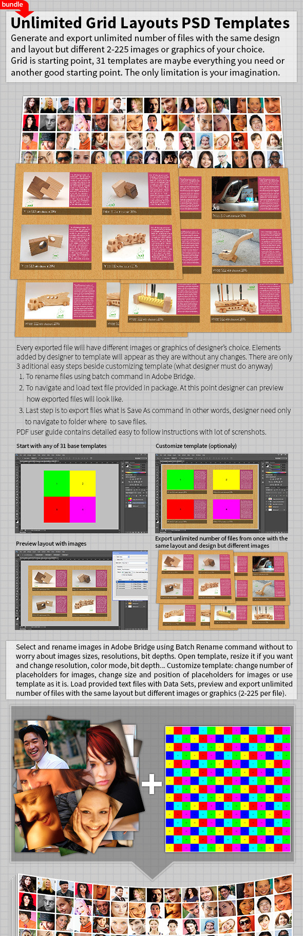 Unlimited Grid Layouts PSD Templates Bundle - Photoshop Add-ons