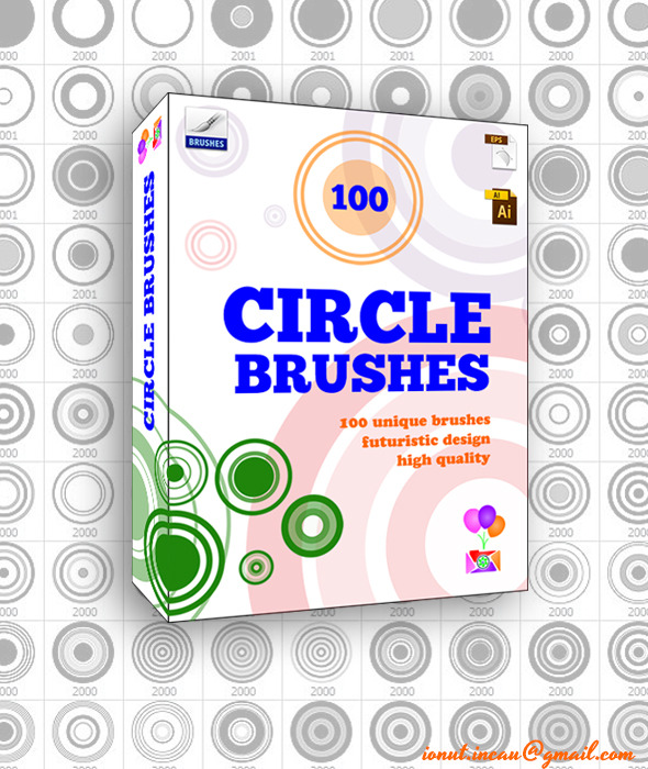 100 Circle Brushes - Photoshop Brushes - Abstract Brushes