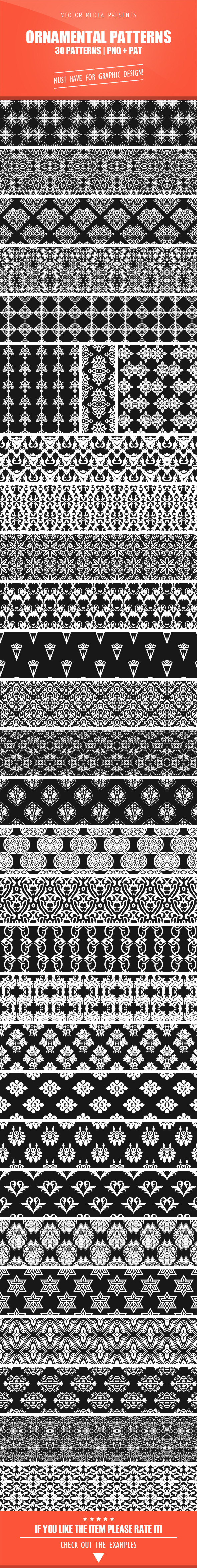 Ornamental Patterns - Artistic Textures / Fills / Patterns