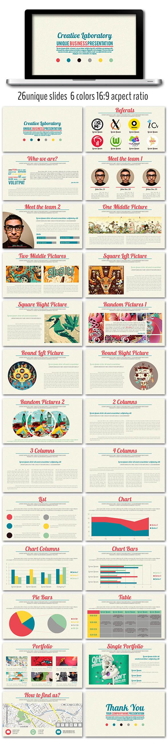 Creative Laboratory Presentation - Presentation Templates