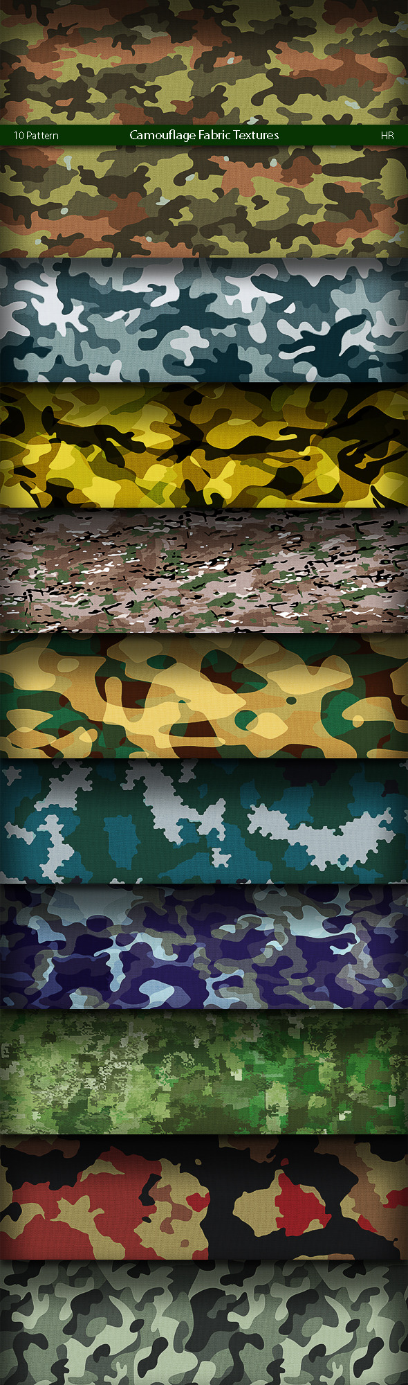 Camouflage Fabric Patterns - Textures / Fills / Patterns Photoshop
