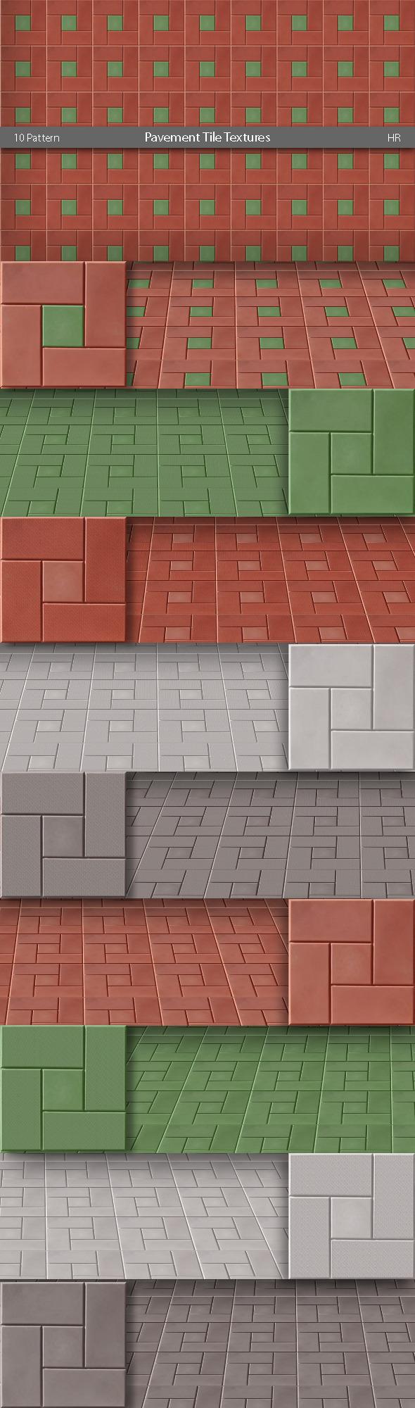 Pavement Tile Patterns - Urban Textures / Fills / Patterns