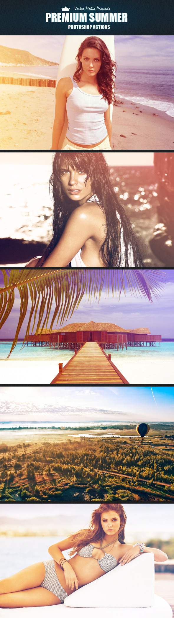 Premium Summer - Photoshop Actions - Photo Effects Actions