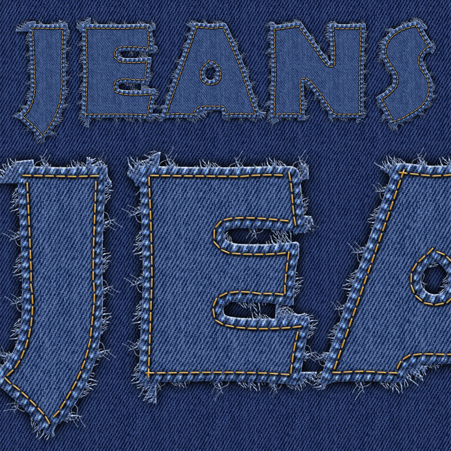stitched jeans and leather by logic design graphicriver
