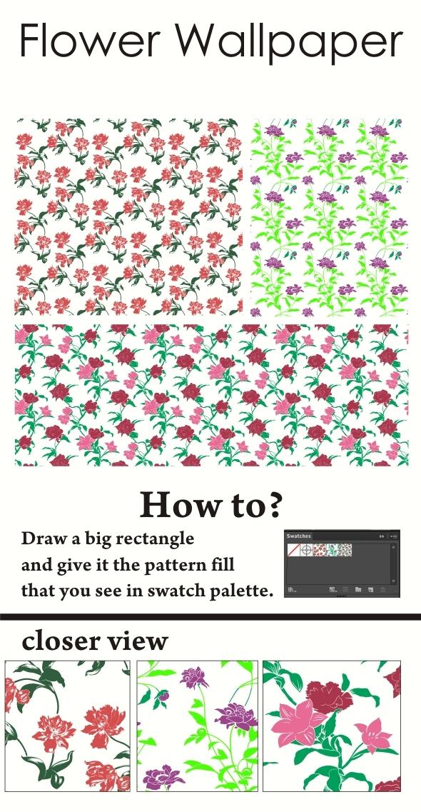 Flower Wallpaper - Nature Textures / Fills / Patterns