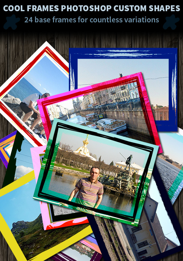 Cool Frames Photoshop Custom Shapes - Miscellaneous Shapes