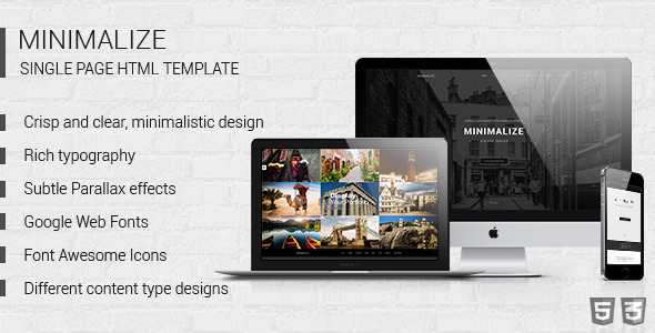 Minimalize | Multipurpose One Page Template - Creative Site Templates