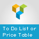 Visual Composer Add-on - To Do List or Price Table