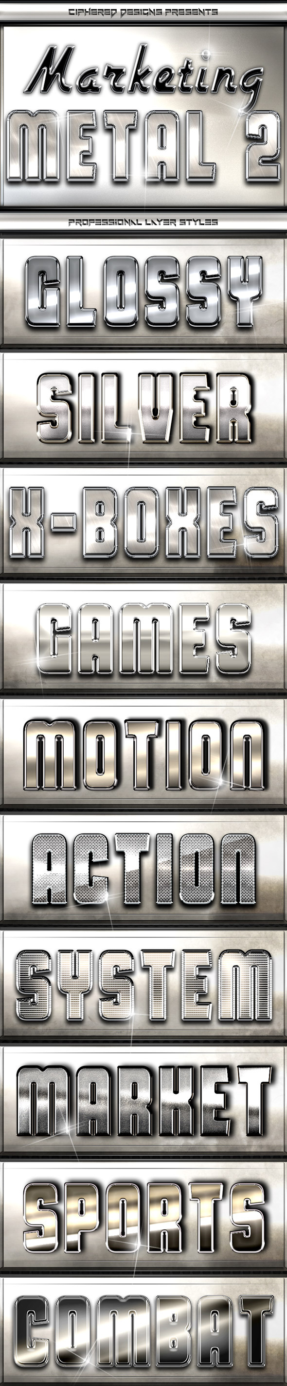 Marketing Metal 2 - Professional Layer Styles - Text Effects Styles