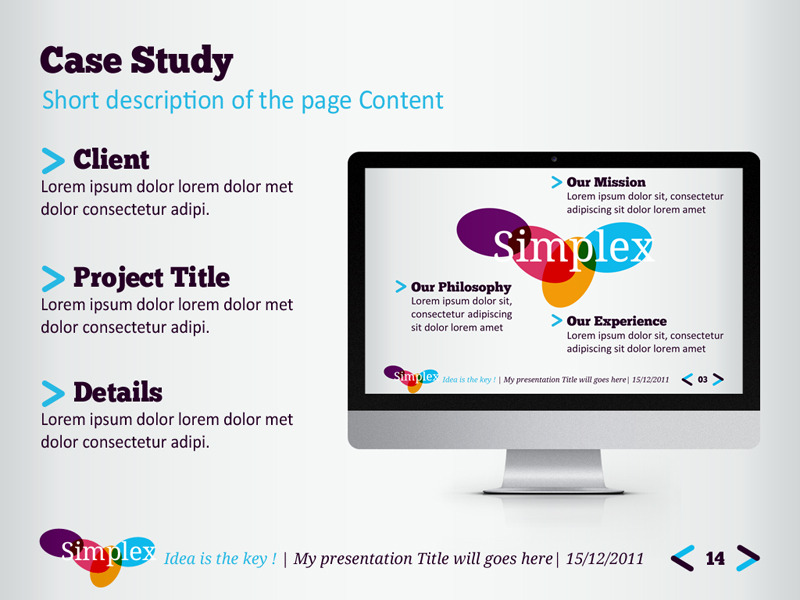 Free Sample Study Set: Simplex Powerpoint Template By Kh2838