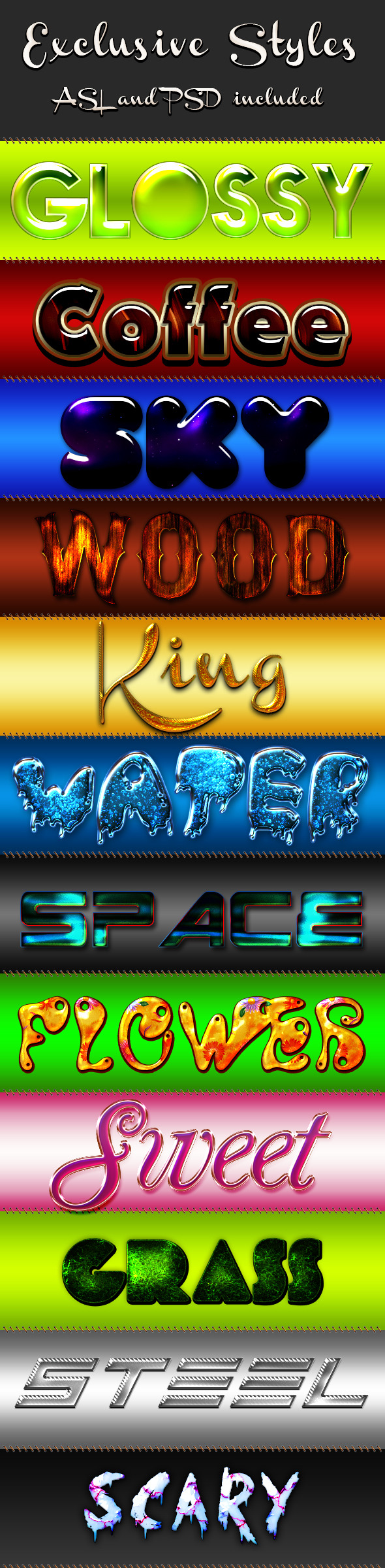 Exclusive Styles - Text Effects Styles