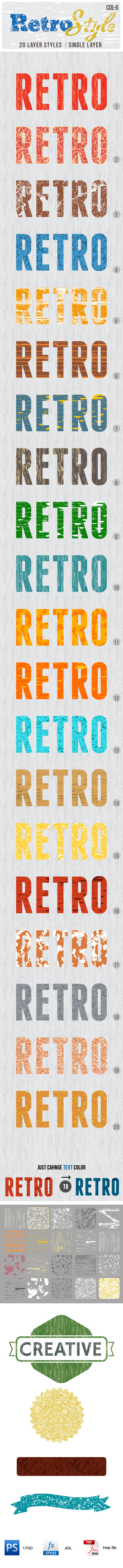 Retro Layer Styles - Text Effects Actions