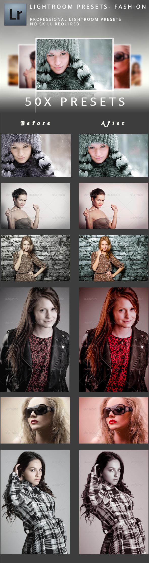 50 Fashion Presets - Portrait Lightroom Presets