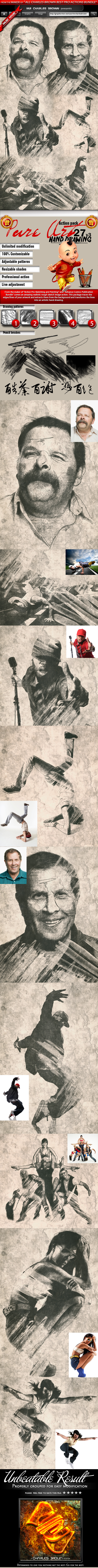 Pure Art Hand Drawing 27 – Chinese Cultural Art V3 - Photo Effects Actions