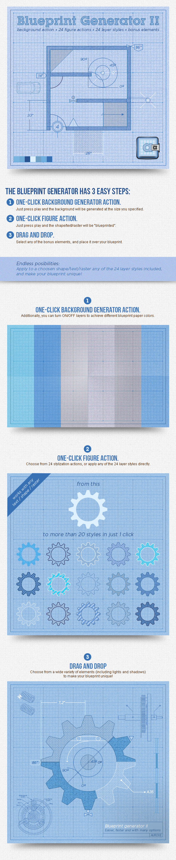 Blueprint generator ii action layer styles by aurove graphicriver blueprint generator ii action layer styles utilities actions malvernweather Image collections