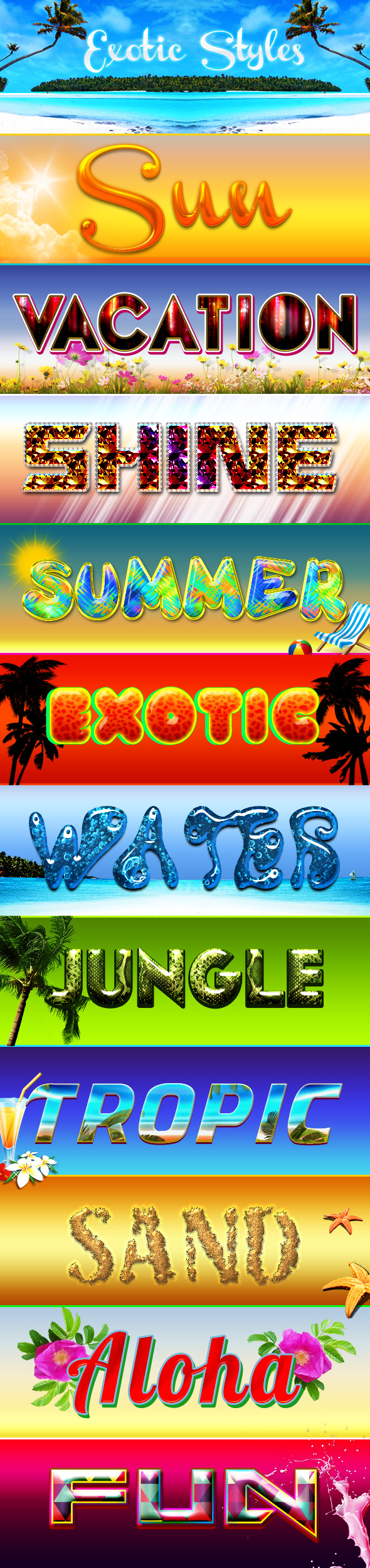 Exotic Styles - Text Effects Styles