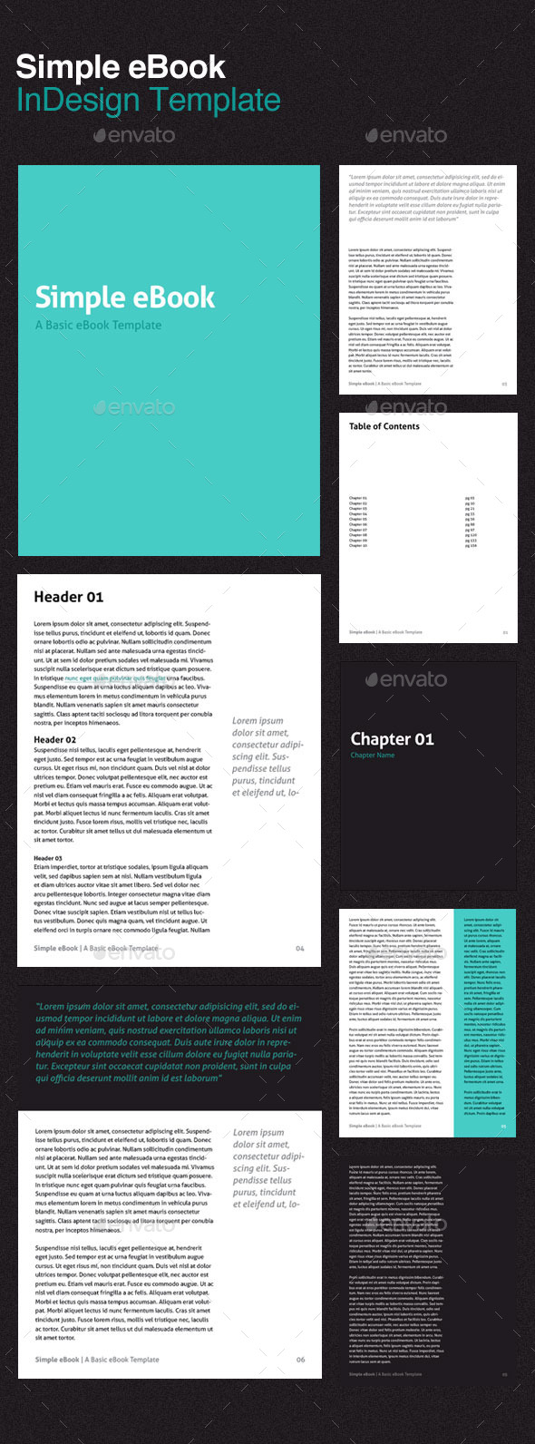 Simple eBook Template by cardeo | GraphicRiver