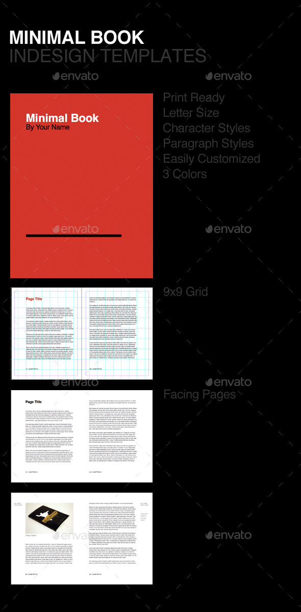 Minimal Book - Miscellaneous Print Templates