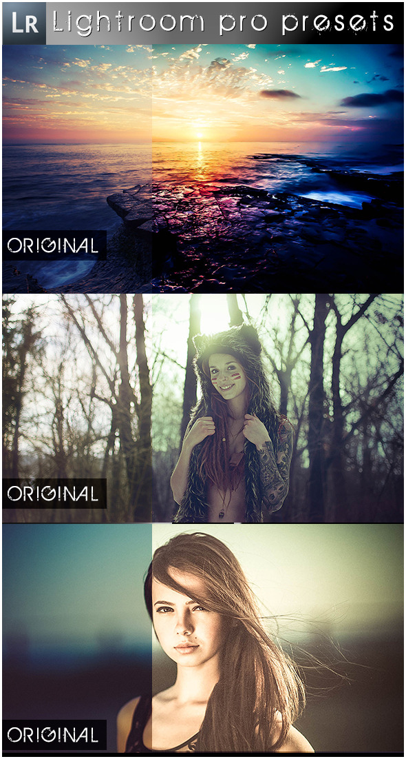 6 Random Pro Presets - Lightroom Presets Add-ons