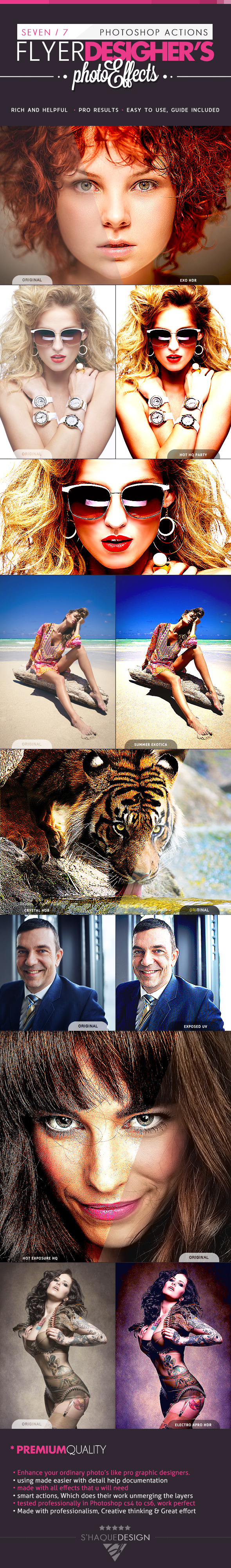 7 PRO Flyer Designer's Effects - Ps Actions - Photo Effects Actions