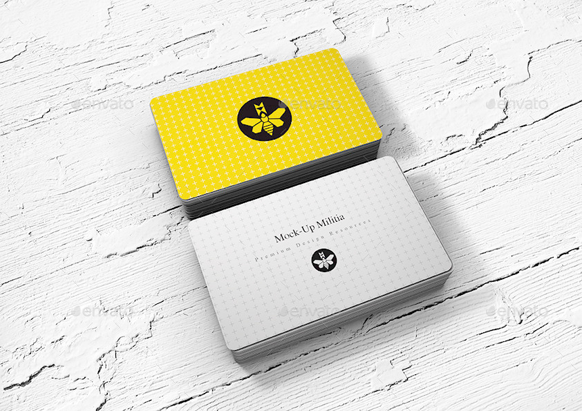 rounded corners business card mock up stack by mock up militia
