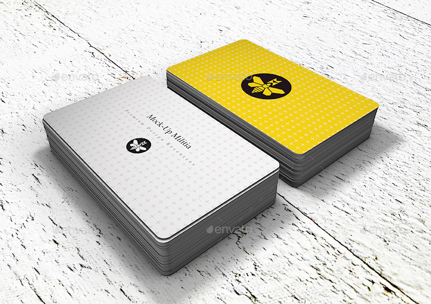 Rounded Corners Business Card Mock-Up | Stack by Mock-Up-Militia ...