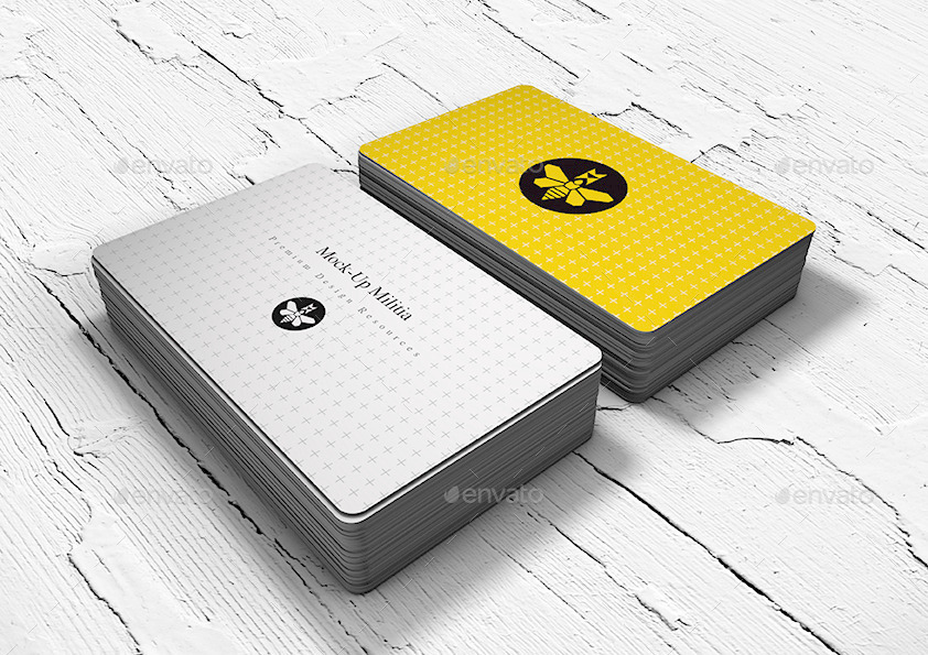 Rounded corners business card mock up stack by mock up militia 55x90 3mmround edge business card mock up v3ag reheart Images