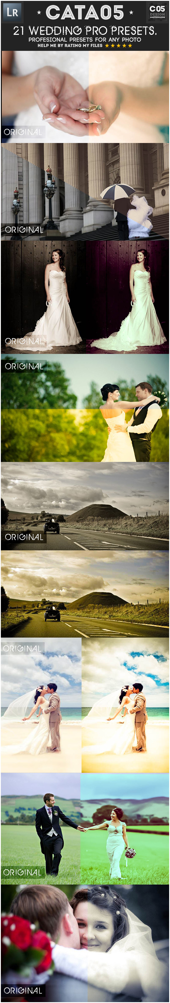 21 Wedding Pro Presets - Wedding Lightroom Presets