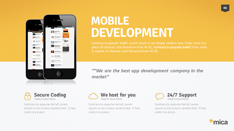 powerpoint mobile app template choice image - powerpoint template, Presentation templates