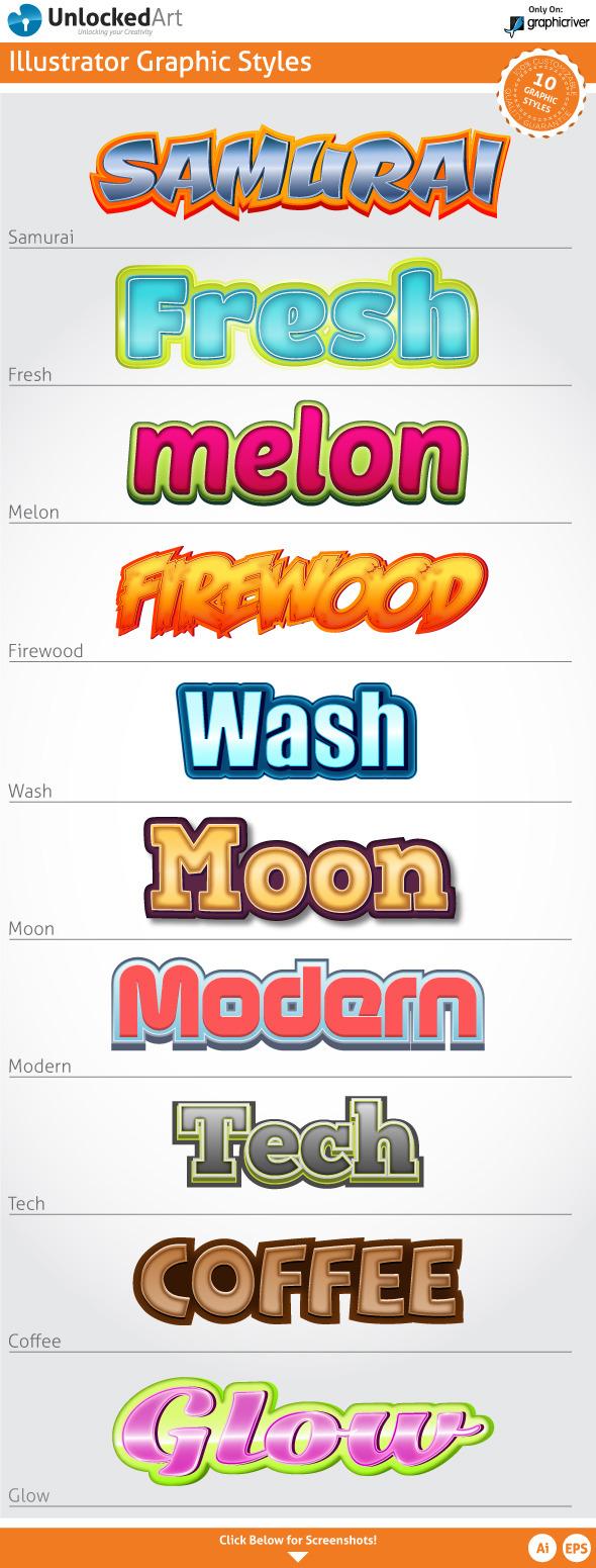 Custom Graphic Styles 4 - Illustrator Add-ons