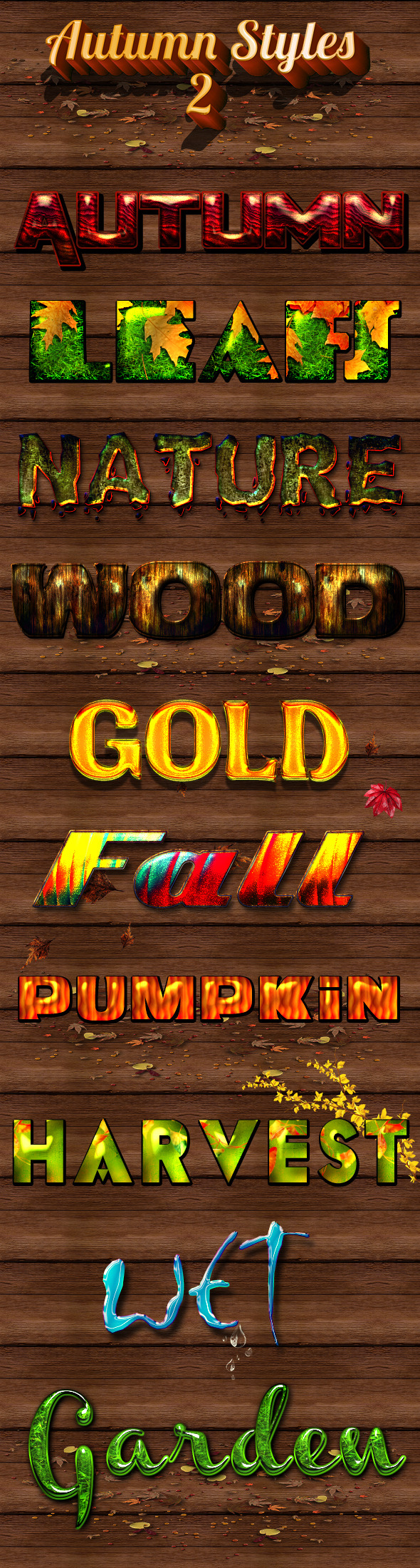 Autumn Styles 2 - Text Effects Styles