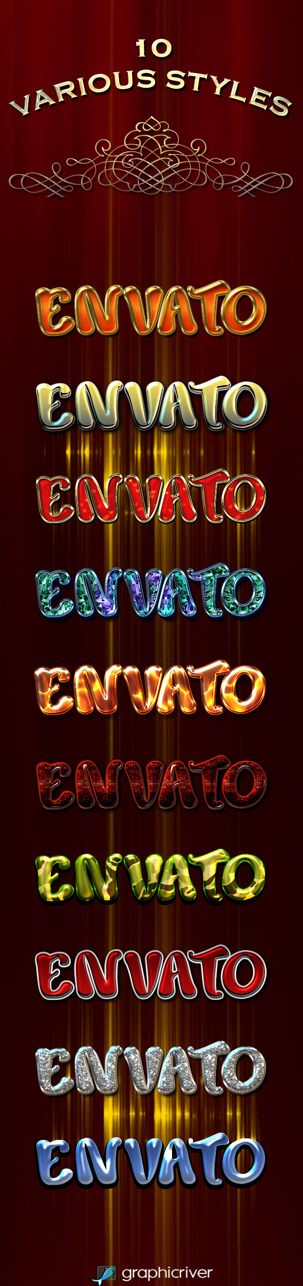 10 Various Styles - Text Effects Styles