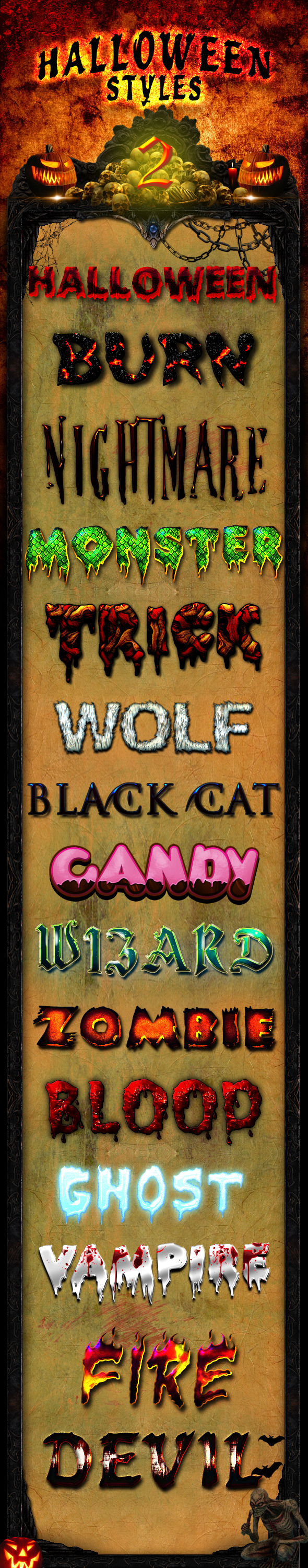 Halloween Styles 2 - Text Effects Styles