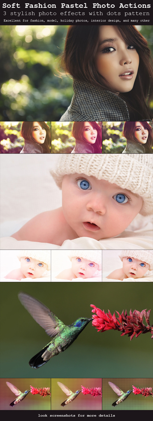 Soft Fashion Pastel Photo Actions - Photo Effects Actions