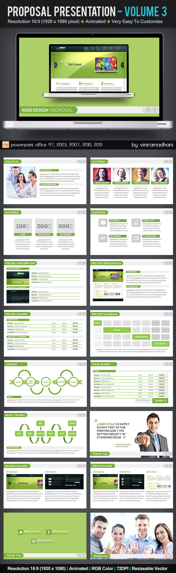 Project Proposal Presentation   Volume 3 - Business PowerPoint Templates