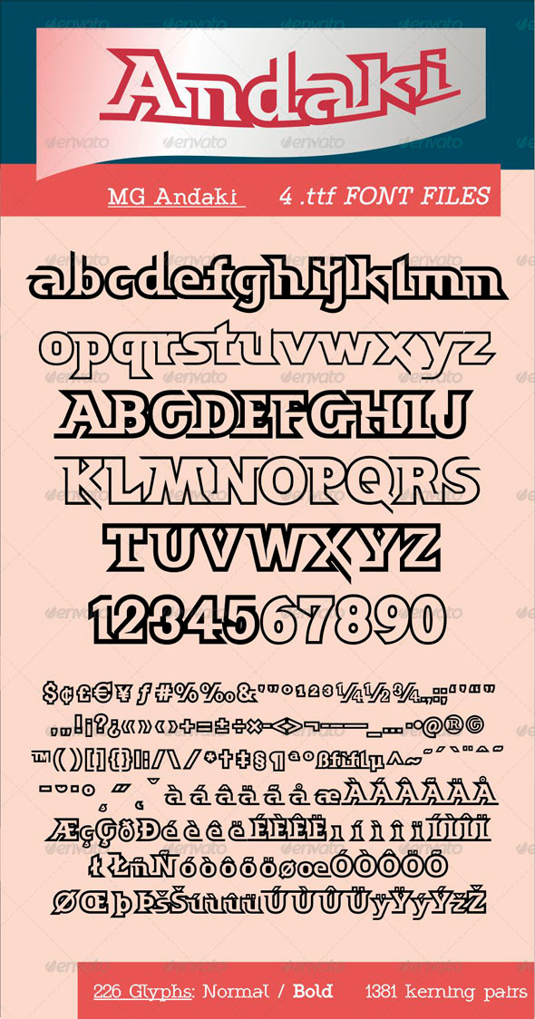 MG Andaki - Fonts