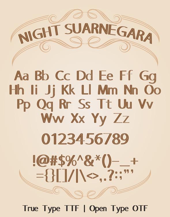 Night Suarnegara Font - Cool Fonts