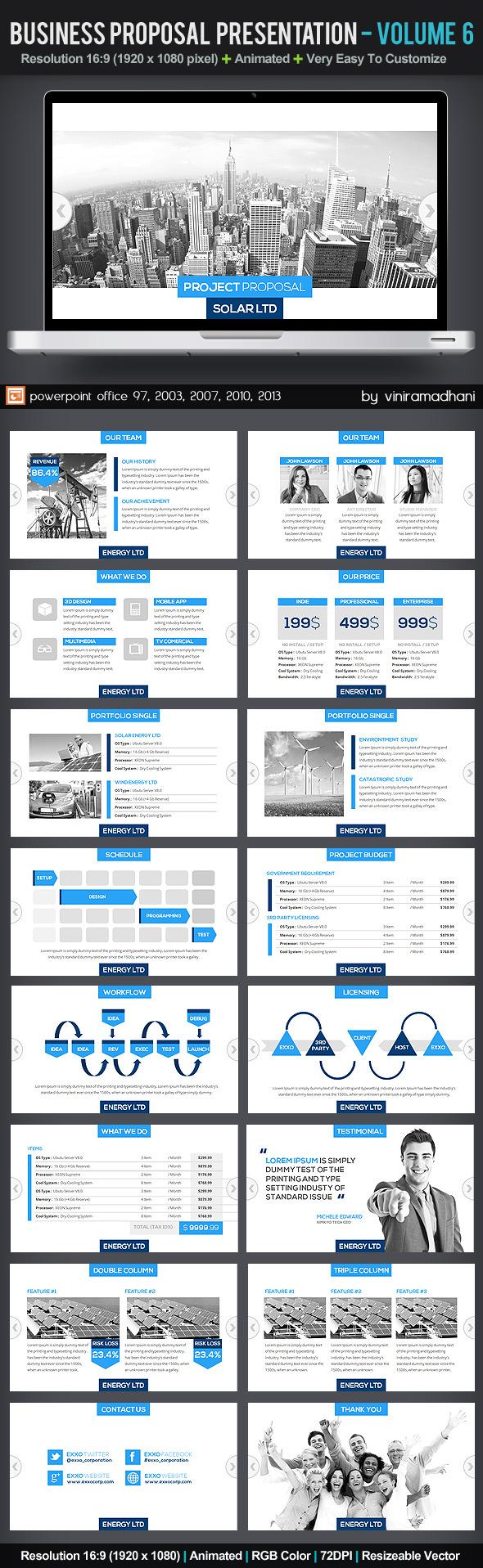 Business Proposal Presentation | Volume 6 - Business PowerPoint Templates
