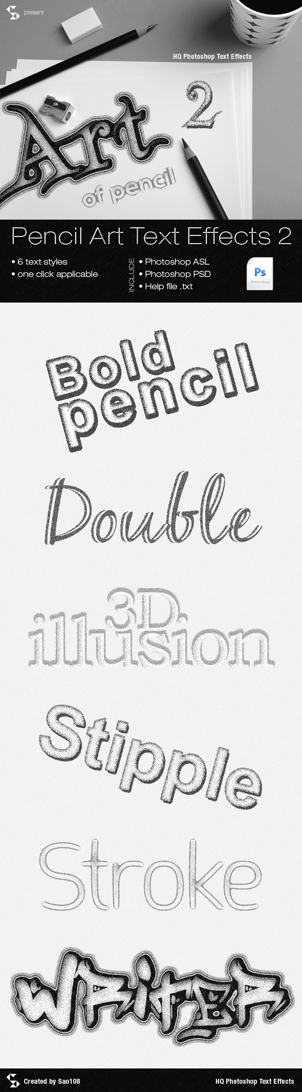 Pencil Art Text Effects 2 - Text Effects Styles
