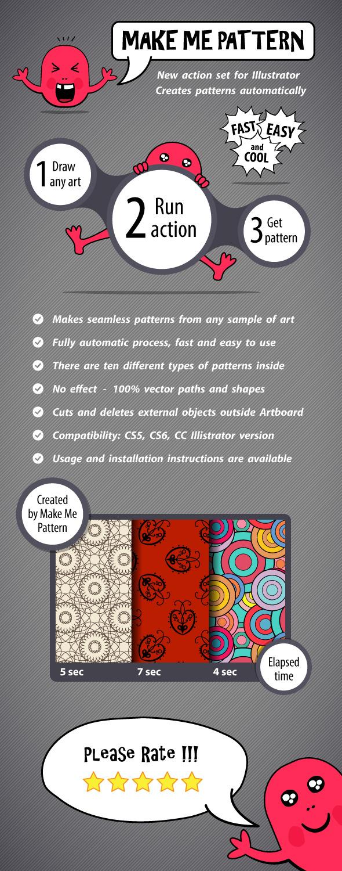 Make Me Pattern Action Set for Illustrator - Actions Illustrator