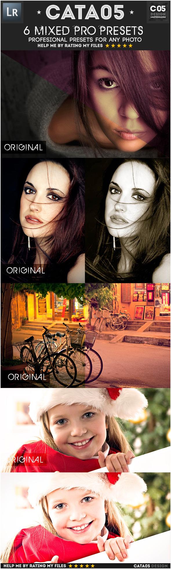 6 Mixed Pro Presets - Portrait Lightroom Presets