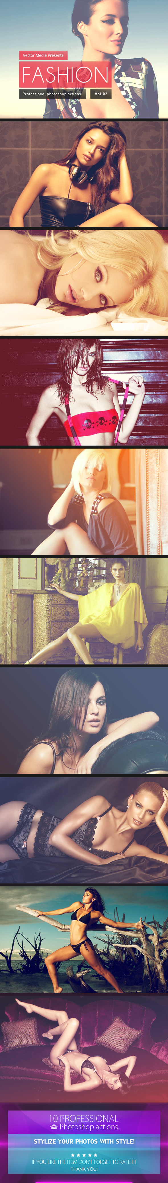Fashion - Photoshop Actions [Vol.2] - Photo Effects Actions