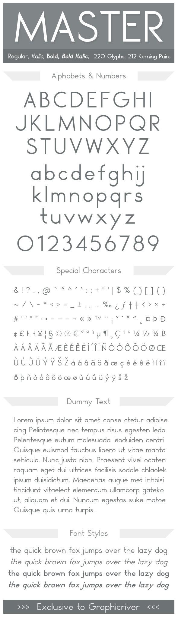 Master - Fonts