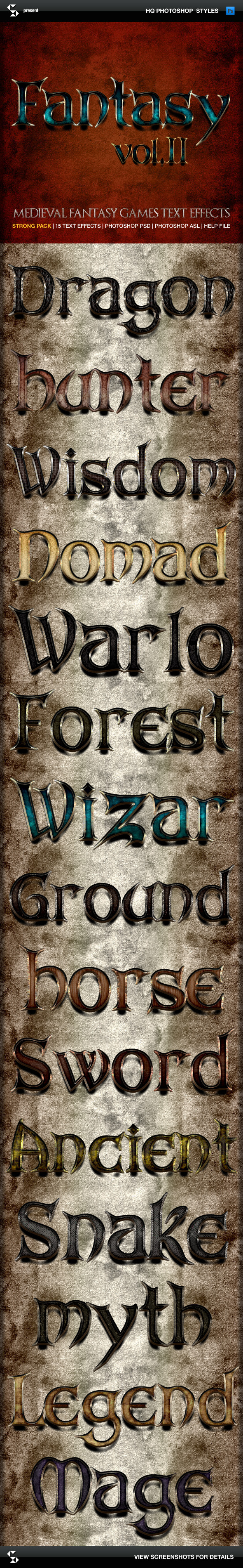 Medieval and fantasy games text effects 2 - Text Effects Styles
