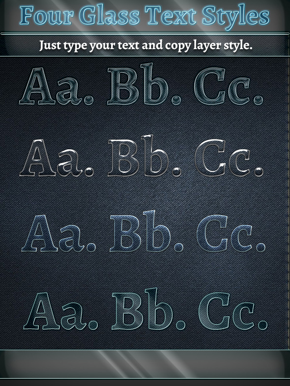 Glass Text Styles - Text Effects Styles