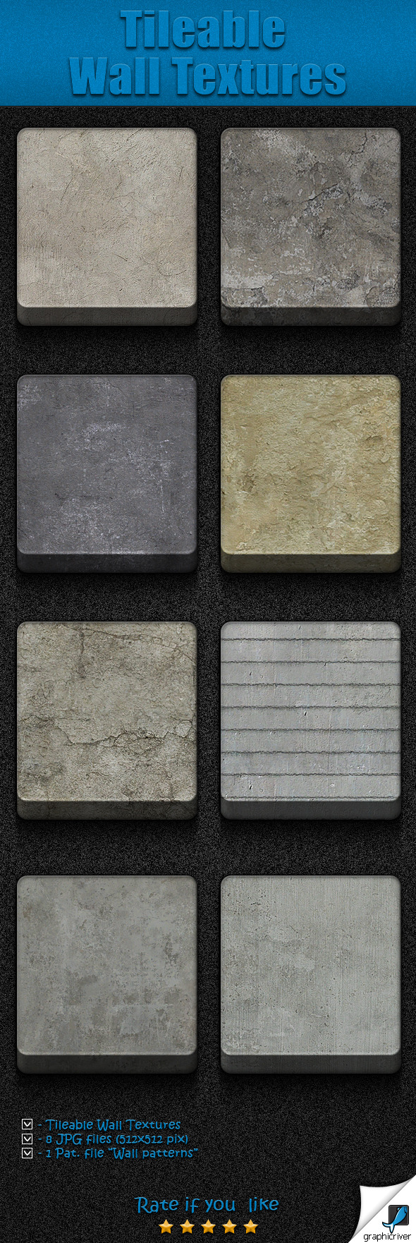 Tileable  Wall Textures - Textures / Fills / Patterns Photoshop