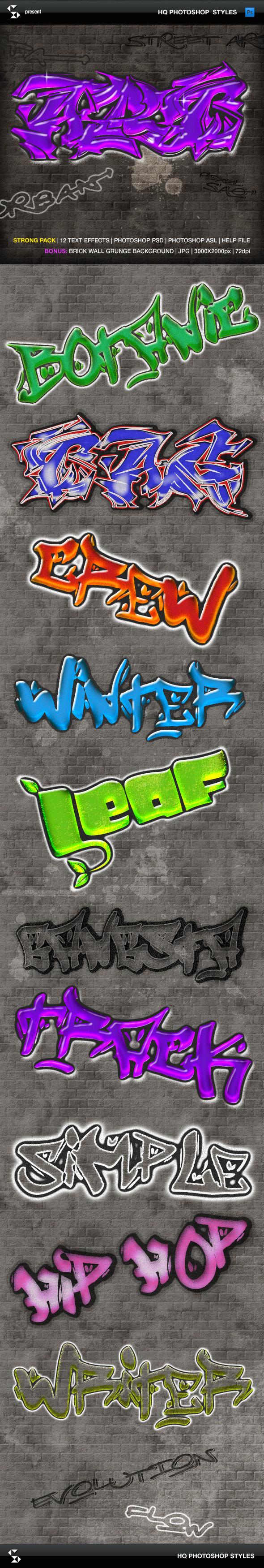 Urban Graffiti Text Effects - Text Effects Styles