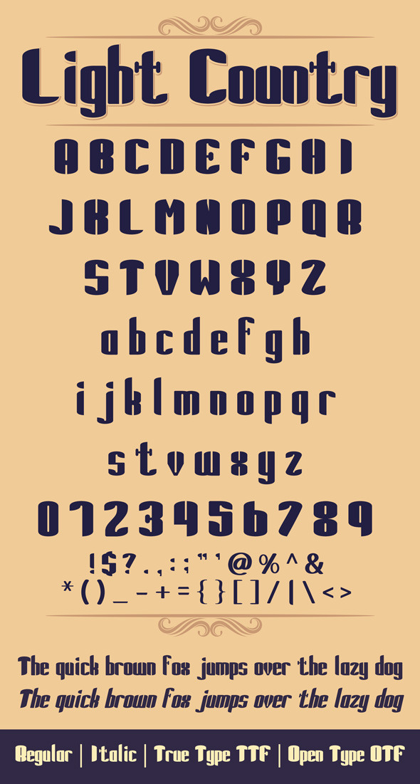 Light Country Font - Sans-Serif Fonts